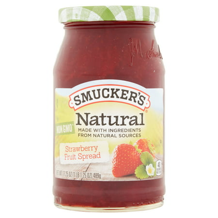 Wright Strawberry - (3 Pack) Smucker's Natural Strawberry Preserves, 17.25 oz