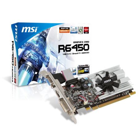 MSI Radeon R6450-MD1GD3/LP