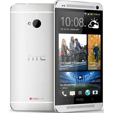 Htc One M7   32Gb   Silver White  Sprint  4G Lte Smartphone Manufacture Refurbished