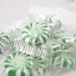 Primrose Spearmint Starlites   Green and White Mint Starlights   Bulk Hard Candy, Wrapped   Kosher   15oz bag