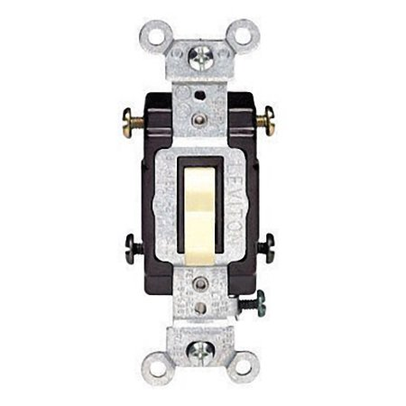 Leviton CS415-2I Ivory Commercial Grade Four Way Toggle Light Switch 15A
