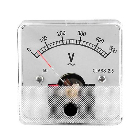 Panel Mount Voltmeter (Unique Bargains Screw Mounting Analog Volt Voltage Voltmeter Panel Meter  0-500V)