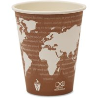 Eco-Products, ECOEPBHC8WA, World Art Hot Beverage Cups, 1000 / Carton, Multi