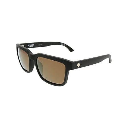 Spy Sunglasses 673520374614 Helm 2 Scratch Resistant Lenses Square Shape, Matte Black ()