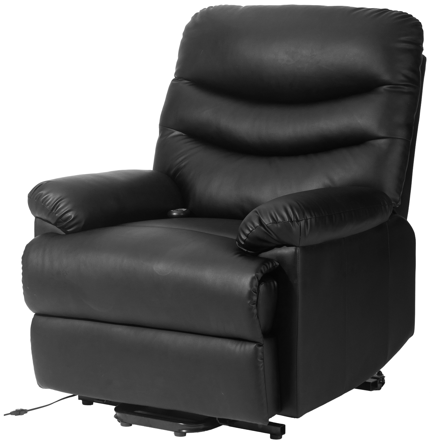 Genial Merax Black PU Leather Power Recliner And Lift Chair Lifting Recliner