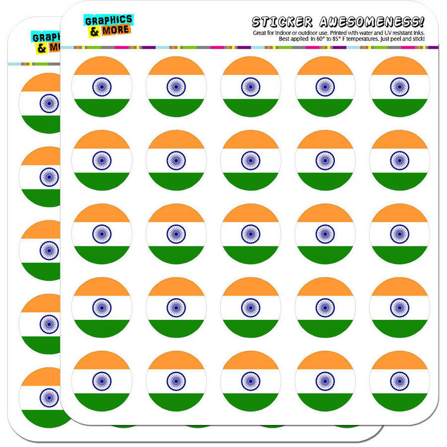 "India National Country Flag 50 1"" Planner Calendar Scrapbooking Crafting Stickers"