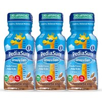 PediaSure Grow & Gain Kids Nutritional Shake, with Protein, DHA, and Vitamins & Minerals, Chocolate, 8 fl oz (Choose Pack)