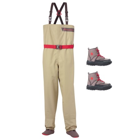 Redington crosswater youth fly fishing waders boots for Fishing waders with boots
