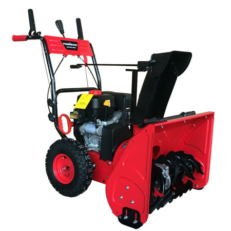 PowerSmart DB7279 24inch Two Stage Gas Snow Blower with Electric