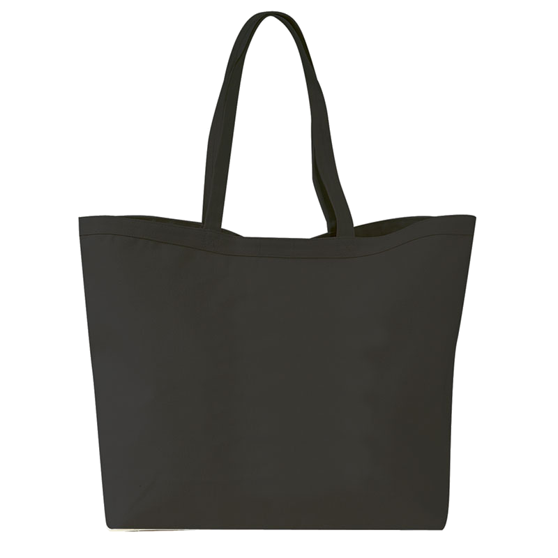 Pack of 12 - Large Heavy Canvas Tote Bags with Velcro Closure and Self Fabric Handles