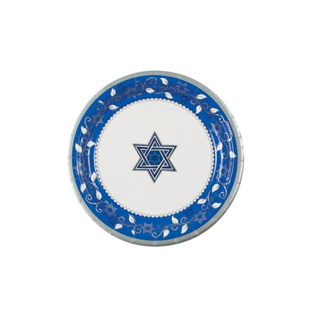 Passover Paper Plates (Joyous Holiday Passover Dessert Plates - Party Supplies - Licensed Tableware - Licensed Plates & Bowls - 8)