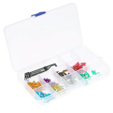 100PCS Assorted Mini Standard Blade Fuse 3A 5A 7.5A 10A 15A 20A 25A 30A Micro Fuse Assortment Kit with Black Puller for Auto Truck Car Boat SUV Automotive Replacement Fuses 5pk 25a Mini Blade Fuse