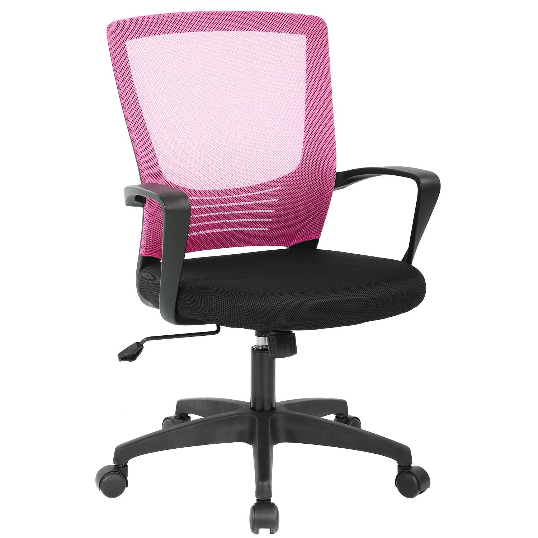 Ergonomic Office Chair Cheap Desk Chair Modern Executive Computer Chair  Rolling Swivel Adjustable Chair Mesh Back Support for Women&men, Grey