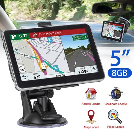 GPS Navigation TSV (5 inch/8GB) Vehicle GPS Navigation with System Lifetime Maps/Traffic, Navigation System Post Code, POI Search Speed Camera
