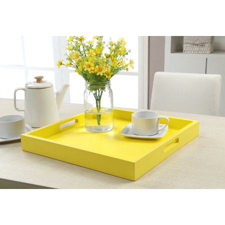 Convenience concepts palm beach décor serving tray Yellow Cafeteria Tray