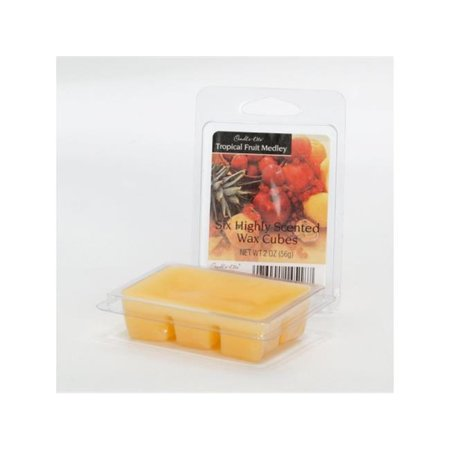 Candle lite 3711099 2.5 oz Tropical Fruit Wax Medley Cube, Pack of 4 (Tropical Surf Wax)