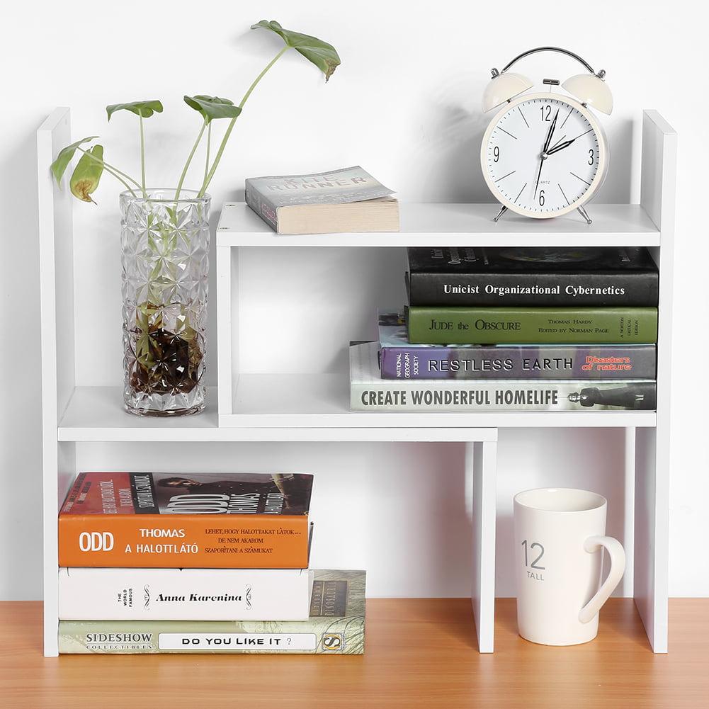 Desktop Bookshelves: Estink Adjustable Desktop Bookshelf, Wood Storage