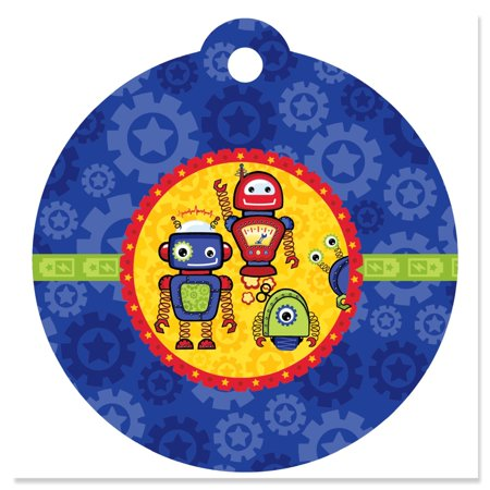 Robots - Party Favor Tags (Set of 20) - Print Tags For Favors