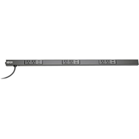 Tripp Lite PSC240410USBB 8-Outlet Power Strip - NEMA 5-15P - 4 x NEMA 5-15R, 4 x USB - 10 ft Cord - 15 A Current - 120 V AC Voltage - 1800 W - Rack-mountable, Desk Mountable - Black