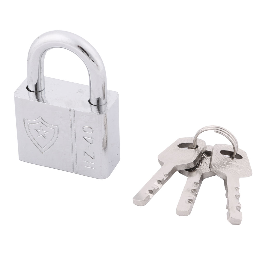 Door Metal Rectangle Security Shackle Padlock Hardware Silver Tone 40mm Width - image 3 of 3