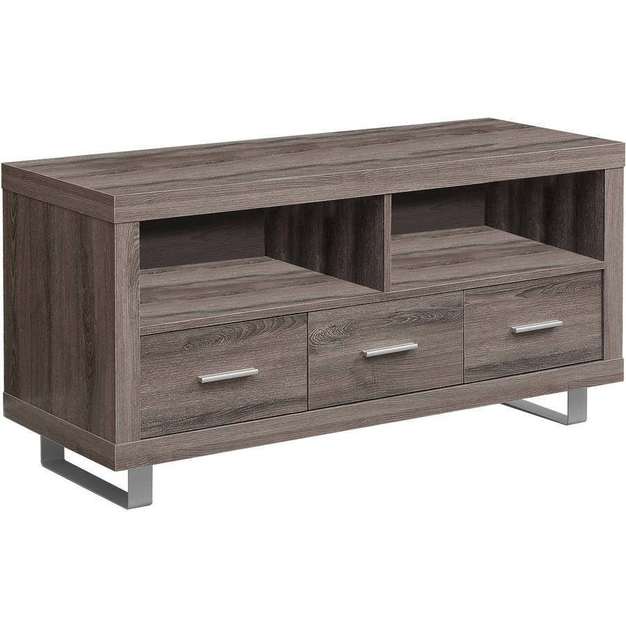 """MONARCH - TV STAND - DARK TAUPE WITH 3 DRAWERS -  FOR TV'S UP TO 50""""L"""