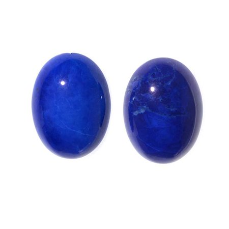 Lapis Color Dyed Howlite Gemstone Oval Flat-Back Cabochons 18x13mm (2 Pieces)