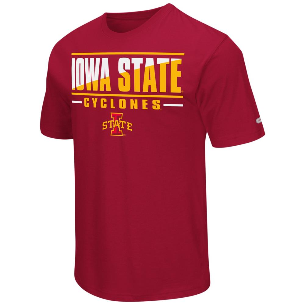 Iowa State Cyclones Men's T-Shirt Two Face Short Sleeve Tee