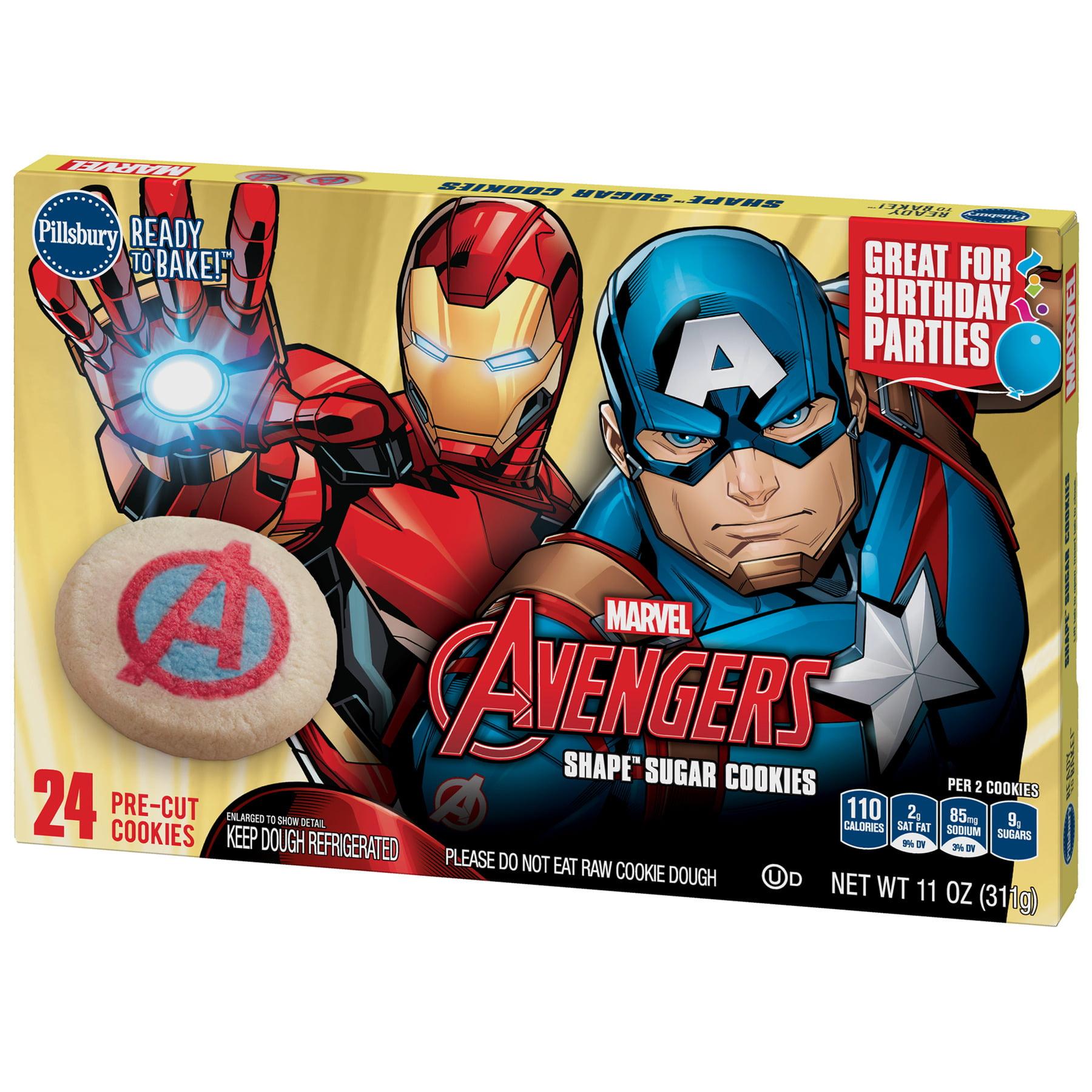 pillsbury ready to bake avengers shape sugar cookie dough 11 oz walmart com