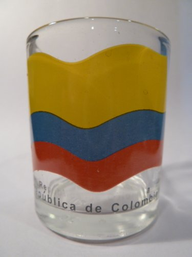 Colombia Flag Shot Glass by World By Shotglass