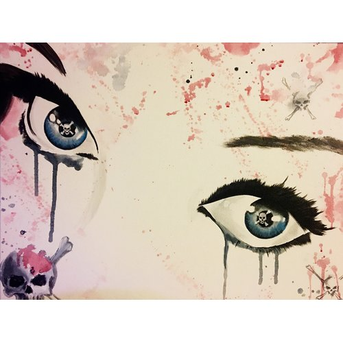 Buy Art For Less 'Her Dead Stare' by Ed Capeau Painting Print on Wrapped Canvas