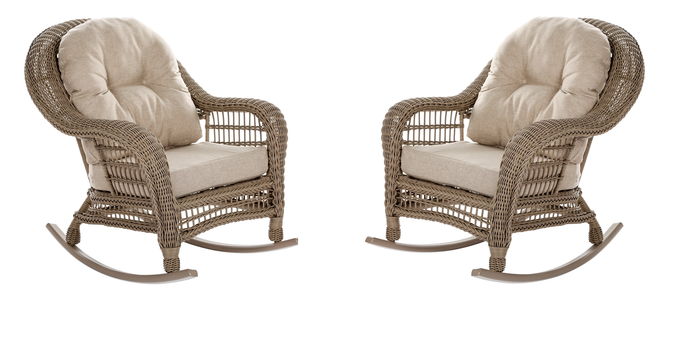 W Unlimited Saturn Collection Outdoor Garden Patio 2 PC Rocking Chair  Furniture Set