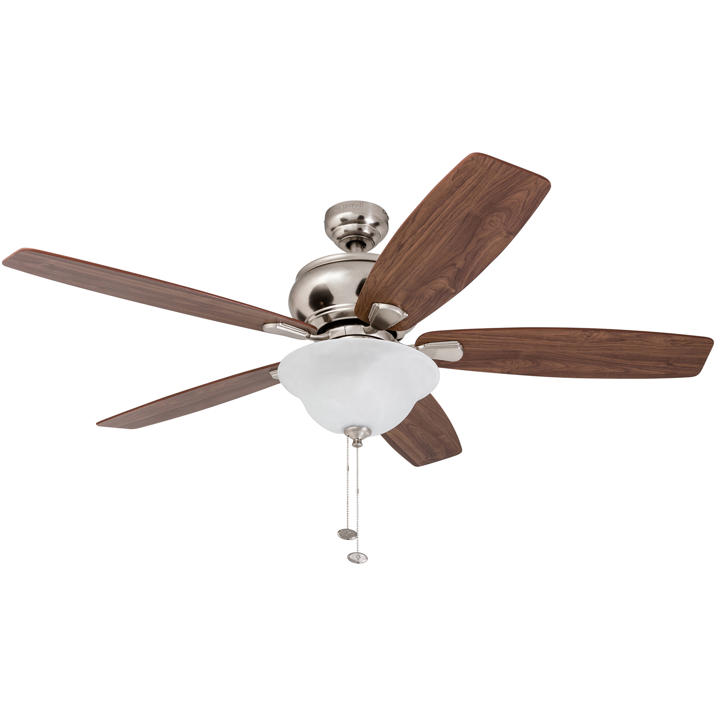 52 Honeywell Elston Ceiling Fan With Led Satin Nickel