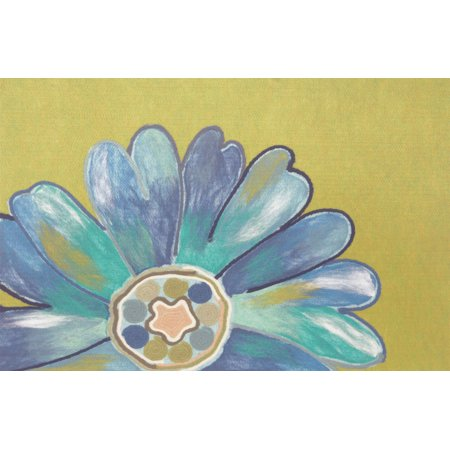 """Liora Manne Visions IV Daisy Indoor/Outdoor Mat Blue 20""""X29.5"""""""