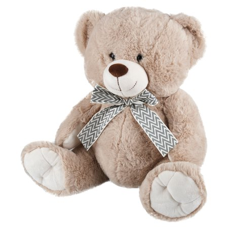 Holiday Time Plush Bear, Beige, 15