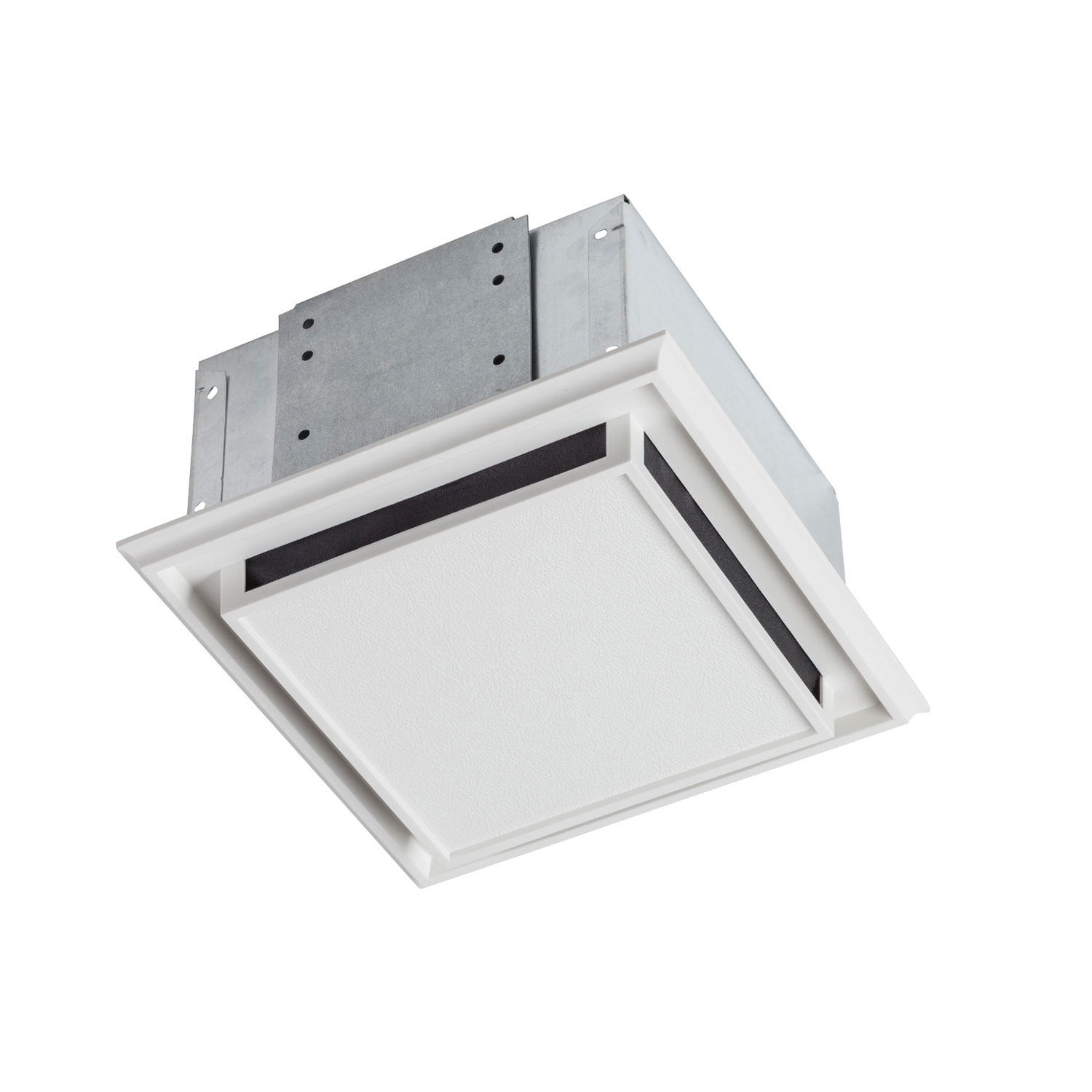 Broan 682 Bathroom Ventilation Fan with Charcoal Filter and White Plastic-Grille
