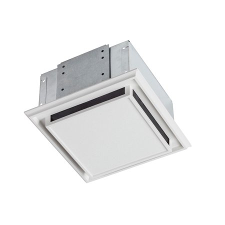 Bathroom Standard Ventilation Package - Broan 682 Bathroom Ventilation Fan with Charcoal Filter and White Plastic-Grille