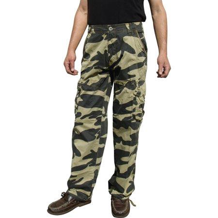 - Mens Military-Style Camoflage Cargo Pants #27C1 32x32 Khaki Camo
