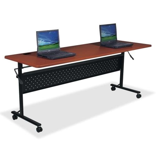 Lorell Mahogany Flipper Training Tables -LLR60670
