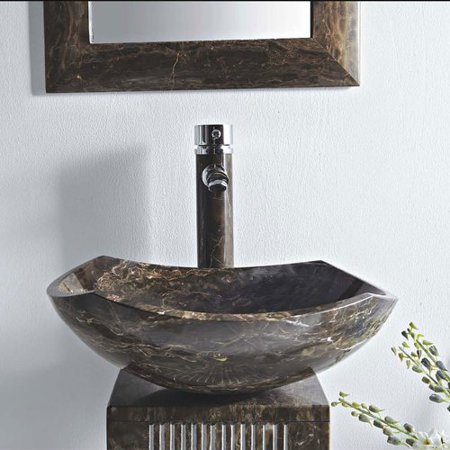(MTD Vanities Ares Stone 16'' Pedestal Bathroom Sink)
