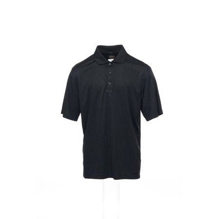 Greg Norman For Tasso Elba Mens Black Checked Polo Shirt