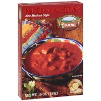 Bueno Foods New Mexican Style Red Chili Sauce with Pork, 16 oz