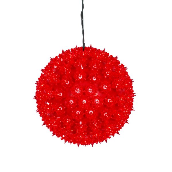 "10"" Red Lighted Twinkling Starlight Sphere Christmas Deco..."