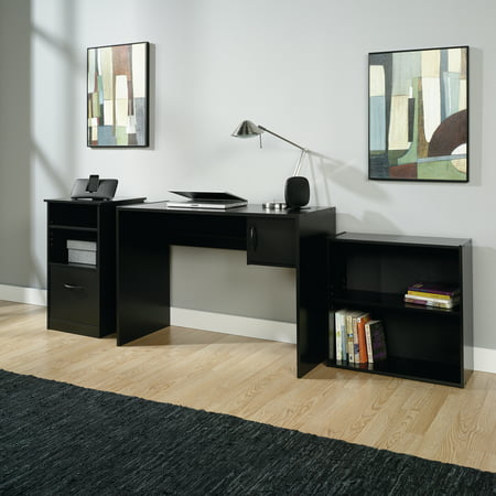 Bookcase Secretary Desk - Mainstays 3-Piece Desk and Bookcase Office Set, Black Finish