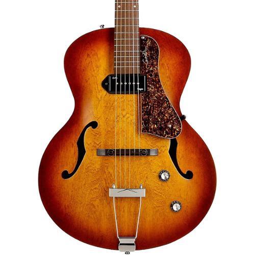 Godin 5th Avenue Kingpin Archtop Hollow Body Electric Guitar (Cognac Burst) by Godin