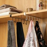 Household 6 Hooks Metal Rack Holder Multi-fuction Under Shelf Mug Cup Cupboard Kitchen Convenient Organiser Hanging Rack Holder