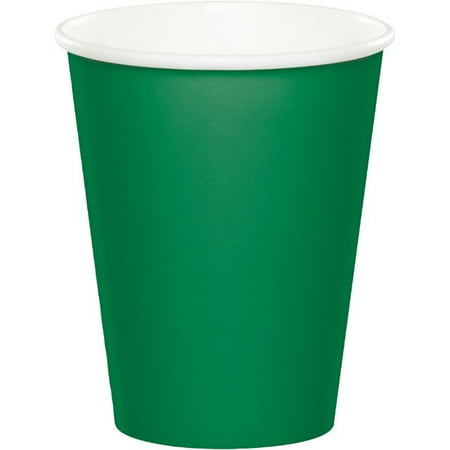 Creative Converting Paper Cups, 9 Oz, Emerald Green, 8 Ct