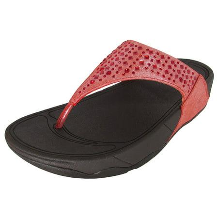290c92369 FitFlop Womens Novy Thong Flip Flop Sandal Shoes