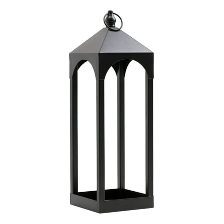 - Mainstays Black Iron Lantern Candle Holder