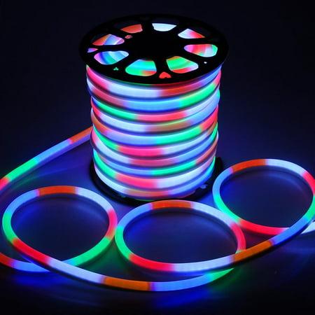 yescom 50 ft 150 ft 110v flex led neon rope light indoor outdoor
