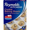 Reynolds Kitchens Cookie Baking Sheets, Pre-Cut Parchment Paper, 25 Sheets